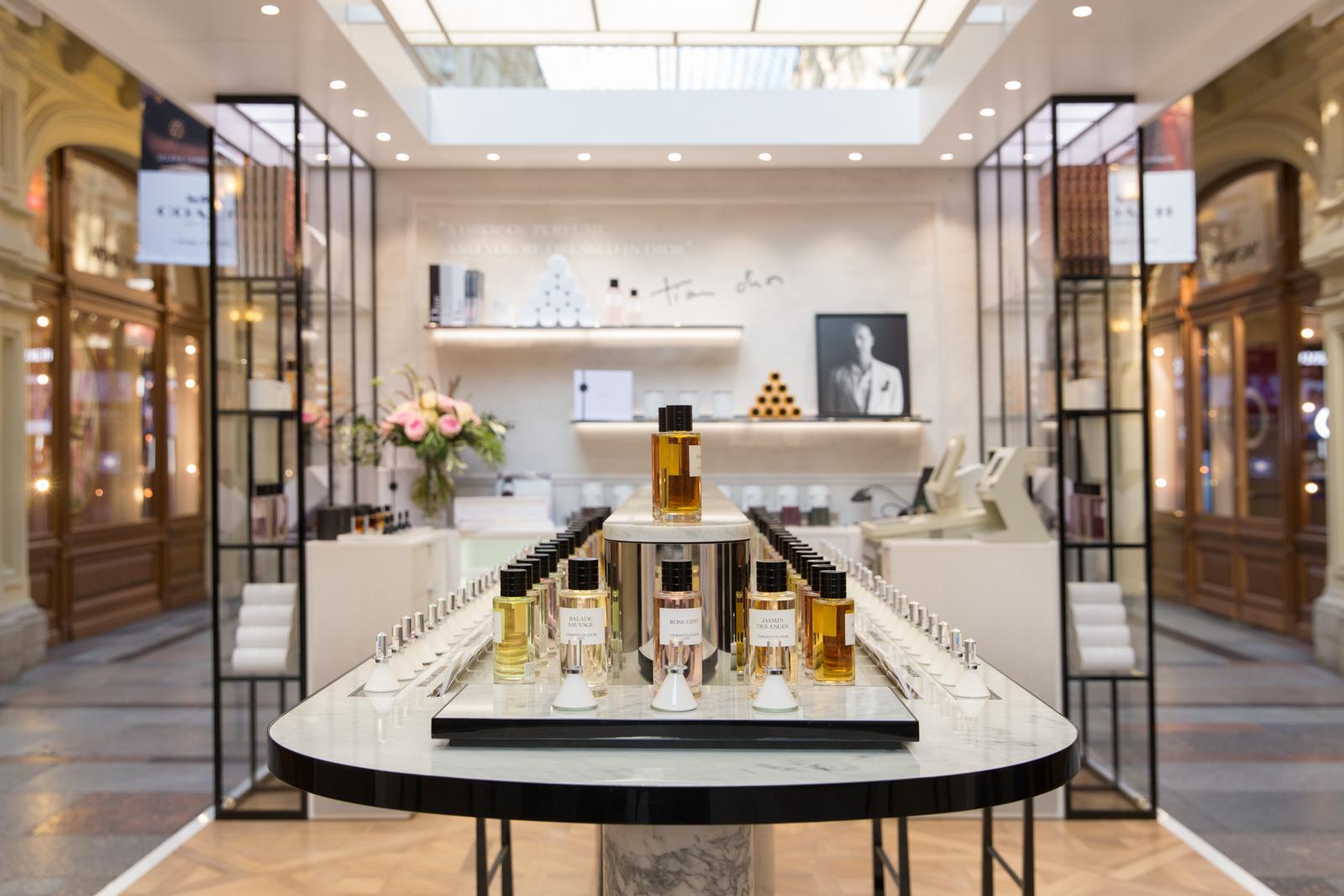the bouquet of fragrances pop up boutique maison christian dior in gum. Black Bedroom Furniture Sets. Home Design Ideas